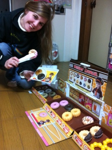 Helping ourselves to our favourite donuts!